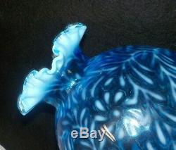 FENTON LAMP Gone With The Wind BLUE OPALESCENT DAISY & FERN GWTW Hurricane