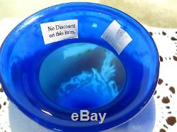 FENTON RARE BLUE ELEPHANT VASE HAND PAINTED LIMITED EDITION #3 OF 5 NO RESERVE