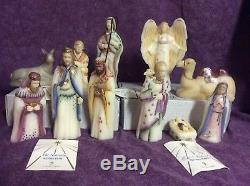 Fenton 1st Edition 12 Piece Nativity WithOriginal Boxes WithPacking & COA, Beautiful
