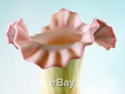 Fenton Art Glass OOAK Handpainted Burmese Vase