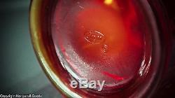 Fenton Art Glass Red Carnival Apple Tree Pitcher & Tumbler Set w Original Labels