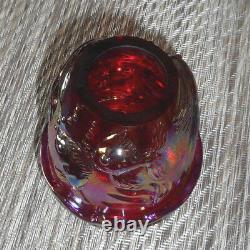 Fenton Art Glass Red Carnival Atlantis Fairy Light Lamp 2001 Le