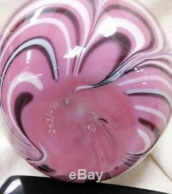 Fenton Art Glass Robert Barber Hyacinth Pulled Feather 0001HF 1975 Vase 243/450