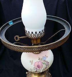 Fenton Art Glass Student Lamp Satin Burmese Carol Griffiths