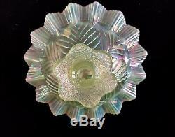 Fenton Art Glass Topaz Opalescent Ltd Ed Single Epergne Horn
