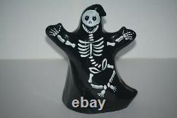 Fenton Black Halloween Skeleton Ghost HP Iob 5278yb