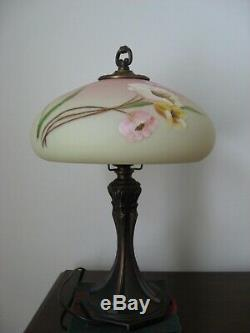 Fenton Burmese Lamp Golden Enchantment from the Connoisseur Collection-New