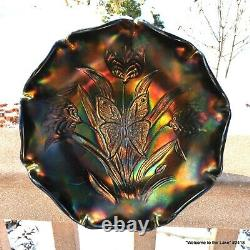 Fenton, Carnival Glass Bowl, Landmark Collection, 1905-2005, Butterfly & Tulip