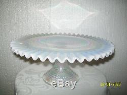 Fenton Christmas 2001 French Opalescent Hobnail Cake Stand