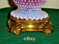 Fenton Cranberry Hobnail Opalescent Lamp Gwtw Student Style