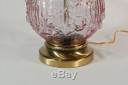 Fenton Dusty Rose Pink Cabbage Rose 23 Gone With the Wind Lamp
