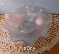 Fenton Five (5) Piece Velva Blue Stretch Glass 13 Epergne No Box