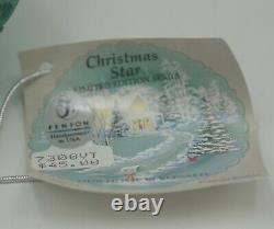 Fenton Glass Christmas Star Our Home Is Blessed Le Fairy Light Green Satin Nib