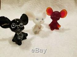 Fenton Glass Mice. Lot of 6