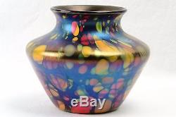 Fenton Glass Vase, 1925 Mosaic Squat Vase #3001-5 1/2