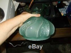 Fenton Green Paisley GWTW Student Lamp