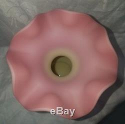 Fenton Hand Painted Pink Burmese Vase Signed and Numbered