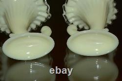 Fenton Ivory Silver Crest 6 Piece Epergne Set