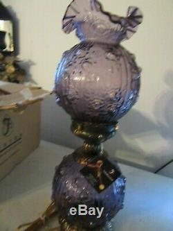 Fenton Lamp Purple 23''Tall New in Box