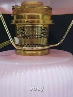 Fenton Large HP Rosalene Aladdin Grand Vertique Kerosene Lamp