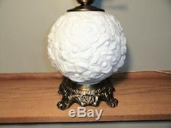 Fenton Milk Glass Poppy GWTW Lamp
