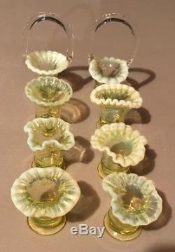 Fenton Miniature Collection, Baskets, Vases, Creamers, Hats, Hand Vases 69 Items