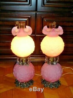 Fenton PINK CUSTARD GLASS FLOWER POPPY GWTW (1-2)