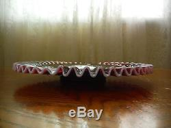 Fenton Plum Opalescent Hobnail Charger 13 1/2 Low Cake PlateRAREHTF