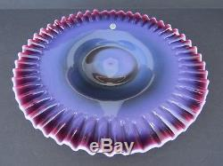 Fenton Plum Opalescent Hobnail Glass Charger Low Cake PlateRAREHTFNO RESERVE
