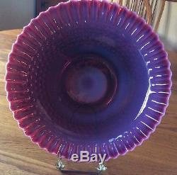 Fenton Plum Opalescent Hobnail chop plate. Rare