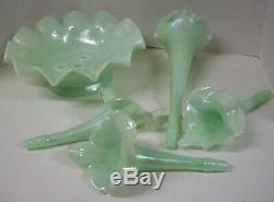 Fenton Sea Green 5 Piece Epergne Mint