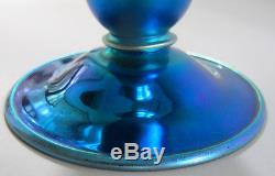 Fine 12 Signed STEUBEN AURENE Trumpet Form Art Deco Iridized Glass Vase c. 1920