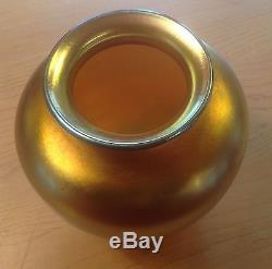 Gold Aurene Steuben Glass Vase