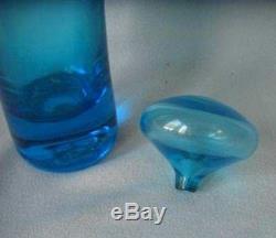 GREENWICH FLINT CRAFT GFC Blown ART GLASS DECANTER STOPPER Tom Connally Design