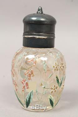 Group of 8 Mount Washington Moser Art Glass Salt Pepper Shakers incl Enameled