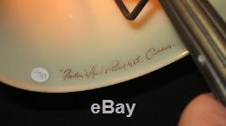 Hand painted & signed & #740 BURMESE GLASS FENTON LAMP