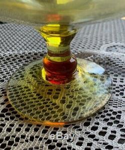 Huge Blenko Amberina Decanter with Stopper Mid Century hand blown 20 1/2 Tall