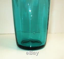 Huge Blenko Optical Twist Decanter, 1970, Surf Green
