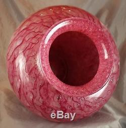 Huge Steuben Rose Cluthra Shape 2683 Vase
