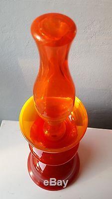 LARGE 22 mid-century danish modern blenko decanter early mark husted tangerine