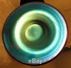 LUSTROUS MIRROR FINISH Antique STEUBEN BLUE AURENE Perfume Scent Atomizer Bottle
