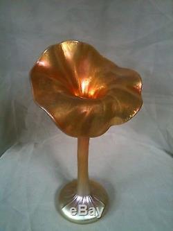 L. C. Tiffany Studios Favrile Jack In The Pulpit Art Nouveau Vase circa 1908
