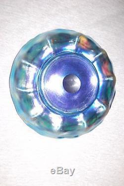 Large Bowl Tiffany-Favrile Blue-Iridescent intaglio signed L. C. T. Favrile