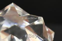 Large Stunning Signed Steuben Crystal Glass Star Paperweight with Original Box 4