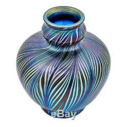 Lct Tiffany Favrile, Glass Cabinet Vase A1941 Circa 1894
