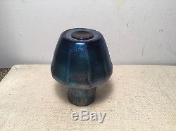 Louis Comfort Tiffany Favrile LCT Blue Iridescent Aesthetic Glass Vase