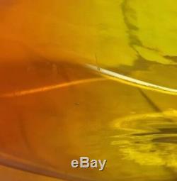 MCM Wayne Husted Blenko Floor TWIST DECANTER Ca 1958 Tangerine Amberina