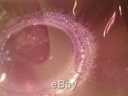 MCM Zeller Glass Floor Vase Wayne Husted Amethyst 30