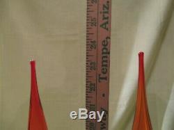 MID Century Modern Blenko Tangerine Decanters Pair Of (2)
