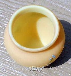 Mt Washington Diamond Urn Burmese Hand Painted Enameled Toothpick Holder Mint